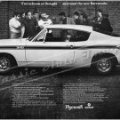"1969 Plymouth Barracuda Ad Digitized and Re-mastered Poster Print ""Two Schools of Thought"" 16"" x 24"""