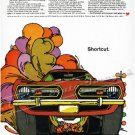 """1968 Plymouth Barracuda Ad Digitized and Re-mastered Poster Print """"Shortcut"""" 18"""" x 24"""""""