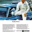"""1966 Plymouth Belvedere Ad Digitized & Re-mastered Poster Print """"Sunday Driver"""" 18"""" x 24"""""""