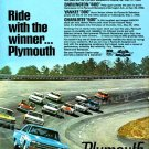 "1966 Plymouth Belvedere Ad Digitized & Re-mastered Poster Print ""Ride With the Winner"" 18"" x 24"""