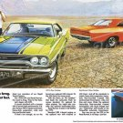 "1970 Plymouth GTX and Road Runner Ad Digitized & Re-mastered Print ""No Brag, Just Fact"" 18"" x 32"""