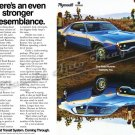 """1972 Road Runner and Satellite Ad Digitized and Re-mastered Poster Print """"Resemblance"""" 16"""" x 24"""""""