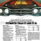 """1969 Plymouth Road Runner Ad Digitized and Re-mastered Print """"440 Cubes, and 3 Holleys!"""" 18"""" x 24"""""""