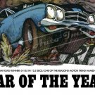 """1969 Plymouth Road Runner Ad Digitized and Re-mastered Poster Print """"Car of the Year"""" 16"""" x 24"""""""