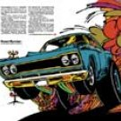 """1968 Plymouth Road Runner Ad Digitized and Re-mastered Print """"Acceleratii Rapidus Maximus"""" 16""""x24"""""""