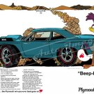 """1968 Plymouth Road Runner Ad Digitized and Re-mastered Poster Print """"""""Beep-Beep"""" 16"""" x 24"""""""