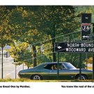 "1968 Pontiac GTO Ad Digitized and Re-mastered Poster Print ""Woodward"" 16"" x 24"""