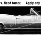 "1965 Pontiac GTO Ad Digitized & Re-mastered Poster Print ""Have New Tigers. Need Tamer"" 16"" x 52"""