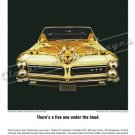 "1965 Pontiac GTO Ad Digitized & Re-mastered Poster Print ""There's a Live One Under the Hood"" 18""x24"""