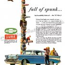 "1957 Chevrolet Bel Air Ad Digitized & Re-mastered Poster Print ""Full of Spunk"" 18"" x 24"""