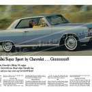 "1964 Chevrolet Chevelle Malibu Ad Digitized & Re-mastered Poster Print ""Gr888t"" 18"" x 24"""