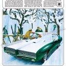 "1969 Pontiac GTO Ad Digitized & Re-mastered Poster Print ""Ski Team"" 18"" x 24"""