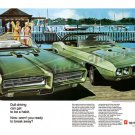 "1969 Pontiac GTO & Firebird Ad Digitized & Re-mastered Print ""Dull Driving Break Away"" 18"" x 24"""