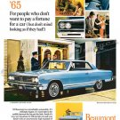 "1965 Pontiac Beaumont Ad Digitized & Re-mastered Poster Print ""Don't Pay a Fortune"" 18"" x 24"""