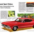 """1968 Pontiac Beaumont Ad Digitized & Re-mastered Print """"SD 396 a Recipe for Excitement"""" 18"""" x  24"""""""