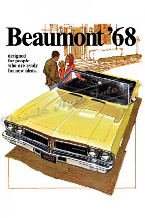 """1968 Pontiac Beaumont Ad Digitized & Re-mastered Poster Print Brochure Cover 18"""" x 24"""""""