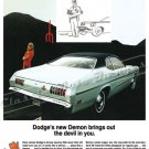 """1971 Dodge Demon Ad Digitized & Re-mastered Poster Print """"Brings Out the Devil in You"""" 18"""" x 24"""""""