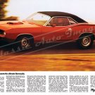 """1970 Plymouth Barracuda Ad Digitized and Re-mastered Poster Print """"Presents the Ultimate"""" 18""""x24"""""""
