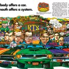 """1970 Plymouth Rapid Transit Ad Digitized & Re-mastered Print """"Only Plymouth Offers a System"""" 18""""x24"""""""