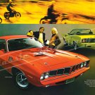 """1971 Plymouth Barracuda Ad Digitized and Re-mastered Poster Print Brochure 18"""" x 24"""""""