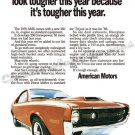 """1970 American Motors AMX Ad Digitized & Re-mastered Poster Print """"Tougher This Year"""" 24"""" x 32"""""""