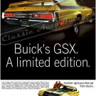 """1970 Buick GSX Ad Digitized & Re-mastered Poster Print """"A Limited Edition"""" 24"""" x 32"""""""