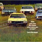 """1968 GM Lineup Ad Digitized & Re-mastered Print """"With Cars Like This What More Can We Say?"""" 24""""x36"""""""