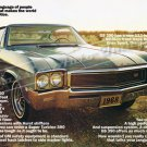 "1968 Buick GS 350 Ad Digitized & Re-mastered Poster Print ""Buick Talks the Language"" 24"" x 36"""