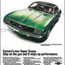 """1969 Camaro SS Ad Digitized & Re-mastered Print """"Super Scoop - Steps Up Performance"""" 24"""" x 36"""""""