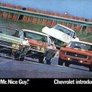 """1969 Chevrolet Lineup Ad Digitized & Re-mastered Poster Print """"No More Mr.Nice Guy"""" 24"""" x 36"""""""