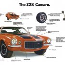 """1972 Camaro Z/28 Ad Brochure Digitized & Re-mastered Poster Print Centerfold Ad 24"""" x 36"""""""