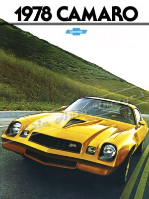 """1978 Camaro Z/28 Brochure Ad Digitized & Re-mastered Poster Print 24"""" x 32'"""