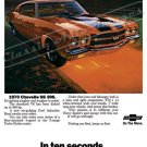 "1970 Chevelle SS Ad Digitized & Re-mastered Print ""10 Seconds Resistance Will Self-Destruct"" 24""x32"""