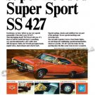 "1967 Chevrolet Impala SS 427 Ad Digitized & Re-mastered Poster Print ""Super Hooded!"" 24"" x 36"""