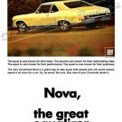 "1968 Chevrolet Nova SS Ad Digitized & Re-mastered Poster Print ""The Great Equalizer"" 24"" x 32"""