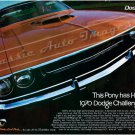 """1970 Dodge Challenger R/T Ad Digitized & Re-mastered Poster Print """"This Pony Has Horses"""" 24"""" x 32"""""""