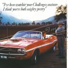 "1970 Dodge Challenger R/T Ad Digitized & Re-mastered Poster Print ""Mighty Pretty"" 24"" x 36"""