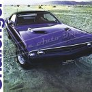 "1971 Dodge Challenger R/T Ad Brochure Digitized & Re-mastered Poster Print 24"" x 32"""