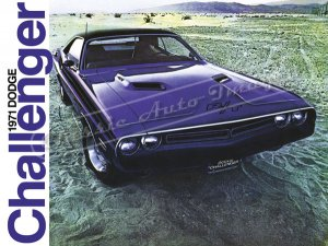 """1971 Dodge Challenger R/T Ad Brochure Digitized & Re-mastered Poster Print 24"""" x 32"""""""