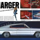"1966 Dodge Charger Ad Digitized & Re-mastered Poster Print ""Leader of the Dodge Rebellion"" 24"" x 36"""