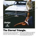 "1969 Dodge Charger R/T Ad Digitized & Re-mastered Poster Print ""The Eternal Triangle"" 24"" x 32"""