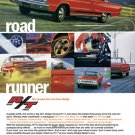"""1967 Dodge Coronet R/T Ad Digitized & Re-mastered Poster Print """"Road Runner"""" 24"""" x 32"""""""