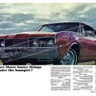 """1968 Oldsmobile Cutlass S Ad Digitized & Re-mastered Print """"Funny Things Under the Bumper?"""" 24""""x36"""""""