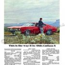 """1968 Oldsmobile Cutlass S Digitized & Re-mastered Ad Poster Print """"This is the Way it Is"""" 24"""" x 32"""""""