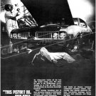 """1969 Oldsmobile Cutlass S W-31 Digitized & Re-mastered Ad Poster Print """"This Piston?"""" 24"""" x 32"""""""