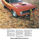 """1970 Plymouth Hemi 'Cuda Ad Digitized & Re-mastered Poster Print """"Hello New People"""" 24"""" x 32"""""""