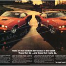 """1971 Plymouth 340 & Hemi 'Cuda Ad Digitized & Re-mastered Poster Print """"Two Kinds of 'Cudas"""" 24""""x36"""""""