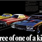 "1973 Plymouth RR, Duster, 'Cuda Ad Digitized & Re-mastered Poster Print ""3 of 1 of a Kind"" 24"" x 36"""