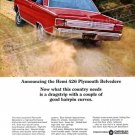"1966 Plymouth GTX Belvedere Ad  Digitized & Re-mastered Poster Print ""Hairpin Curves"" 24"" x 32"""