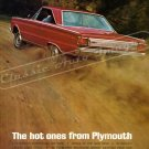 """1966 Plymouth Belvedere Ad Digitized & Re-mastered Poster Print """"The Hot Ones from Plymouth"""" 24""""x32"""""""
